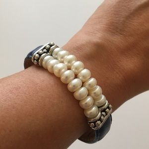 Honora Pearl and Leather Bracelet